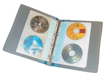 Raccoglitore porta cd dvd ad anelli col cd